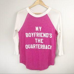 WILDFOX My Boyfriend's the Quarterback Tee